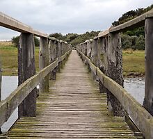 Wooden bridge single point perspective by ArtByRM