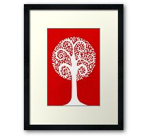 partridge in a pear tree - red Framed Print