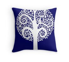 partridge in a pear tree - purple Throw Pillow