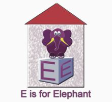 E is for Elephant T-shirt by Dennis Melling