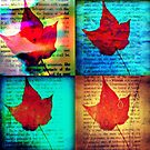 4x4 leaf collage by ShellyKay