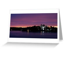 A Boldt Castle Evening Greeting Card