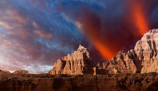Sunrise over Badlands Window Trail .3 by Alex Preiss