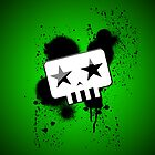 Simple Skull (Green) by spyderjava