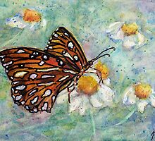 Daisies Delight - Butterfly by Robin Monroe