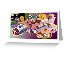 Mei and Friends Collage Greeting Card