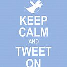 Keep calm and tweet on iPhone 4/4s case by Jnhamilt