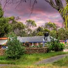 A View of Osteria Sanso - Kanmantoo, Adelaide Hills, SA by Mark Richards