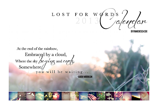 Lost for Words 2013 Calendar Cover by Franchesca Cox