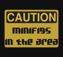Caution Minifigs in the Area Sign by Customize My Minifig by ChilleeW