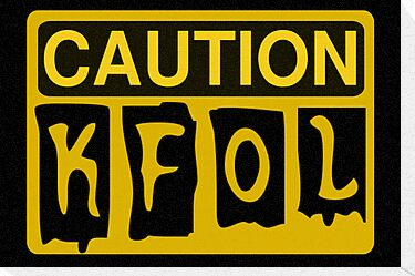 Caution KFOL Sign by Customize My Minifig by ChilleeW