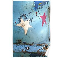 Blue Weathered Sky Poster