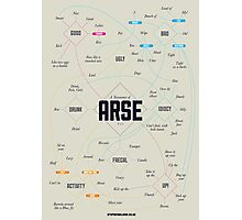 A taxonomy of arse Photographic Print