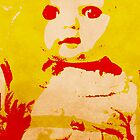 Scary Doll Screenprint #1 by Jessica Slater