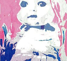 Scary Doll Screenprint #2 by Jessica Slater