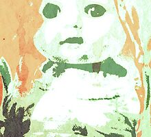 Scary Doll Screenprint #3 by Jessica Slater