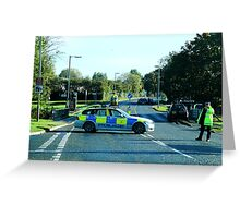 Air Ambulance in the road. Greeting Card