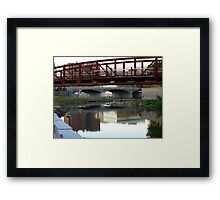 Reflections of a Skyline Framed Print