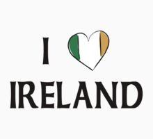I Love Ireland by HolidayT-Shirts