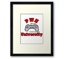 PWN University Gamer gear Framed Print