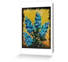 SHADES OF BLOOM - Stunning Acrylic Floral Abstract Modern Home Decor Hyacinths Bold Color Garden  Greeting Card