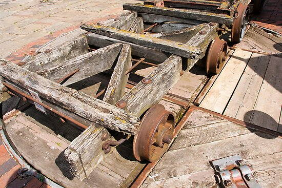 Old Railway Wagon on Turn Table at Gloucester Docks by fg-ottico