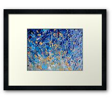 HYPNOTIC BLUE SUNSET - Simply Beautiful Royal Blue Navy Turquoise Aqua Sunrise Abstract Nature Decor Framed Print