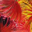FIREWORKS IN RED - Stunning Bright Bold Acrylic Autumn Colors Leaves Fall Festival Firecrackers Lights by EbiEmporium