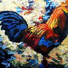 Abstract Cockerel Painting by Samuel Durkin