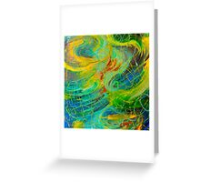 NAUTICAL GALAXY - Beautiful Aquatic Blue Green Ocean Universe Abstract Painting Gift Decor Greeting Card