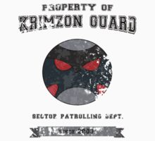 Property of Krimzon Guard (Black Text) by Tgarncarz