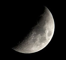 Waxing First Quarter Half Moon II by Richard J. Bartlett