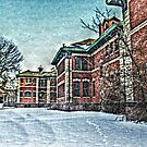 Building 5 In the Snow, Overbrook Psychiatric Hospital by Jane Neill-Hancock