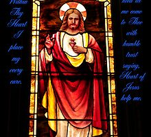 Sacred Heart Of Jesus - Stain Glass by Larry3