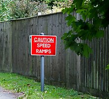 Caution Speed Ramps sign by Sue Robinson