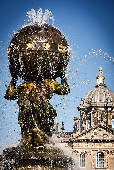 Atlas fountain at Castle Howard by Paul Davis