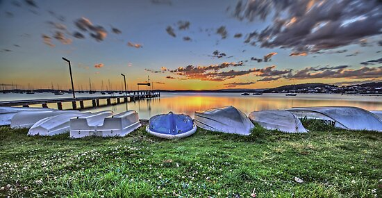 Belmont Boats at Rest by bazcelt