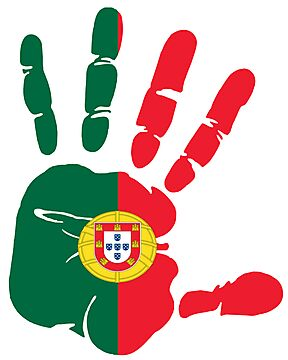 Hand print of flag of Portugal by nadil