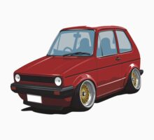 Cartoon MK1 Golf by Carl Eyre