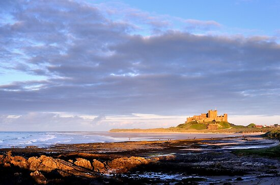 Bamburgh Castle - Northumberland by Dave Lawrance