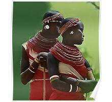 Portrait of Samburu Girls II Poster