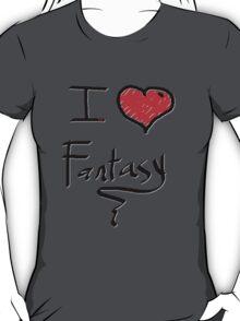 i love fantasy heart  T-Shirt