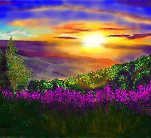 Sunset over Rosedale by Glenn Marshall