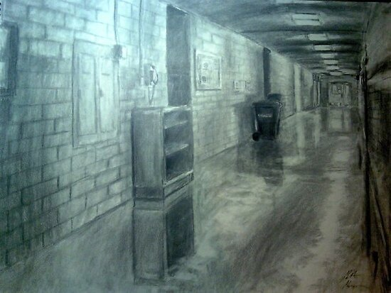 Down The Hall and to The Left by Matt Morrow