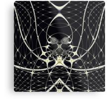 Golden Spiderweb Metal Print