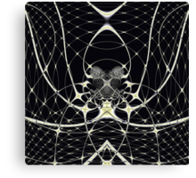 Golden Spiderweb Canvas Print
