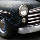 Blue Pin Striped Flames Mercury by Barberelli
