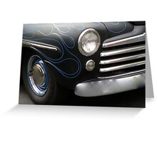 Blue Pin Striped Flames Mercury Greeting Card