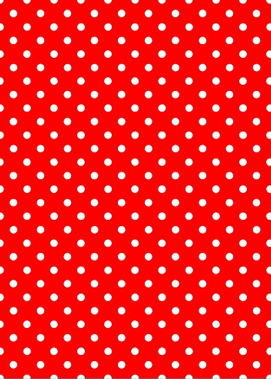 Polka Dots Red and White by Medusa81