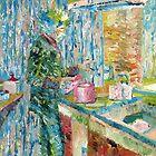 JIMI HENDRIX in the KITCHEN oil PORTRAIT by lautir